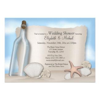 Message Bottle Couple s Beach Bridal Shower Cards