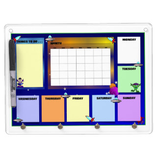 Message from Outer Space Dry Erase Board With Key Ring Holder