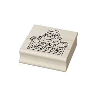 Message From Santa Christmas Rubber Stamp