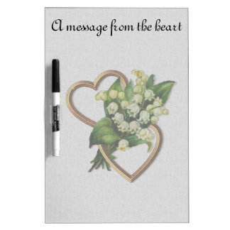 Message From the Heart Gold Entwined Hearts Dry Erase Board