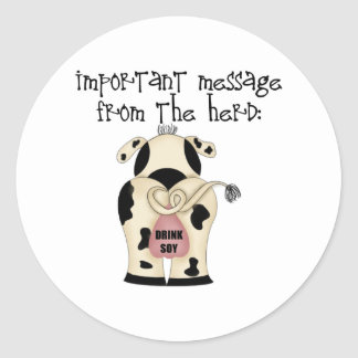 Message From The Herd Stickers