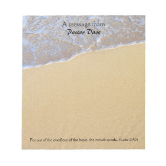 Message From The Pastor, Beach Sand Note Paper