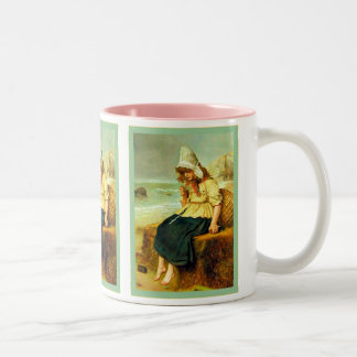 Message From The Sea ~ John Everett Millais Two-Tone Coffee Mug