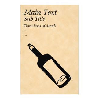 Message in a bottle. 14 cm x 21.5 cm flyer