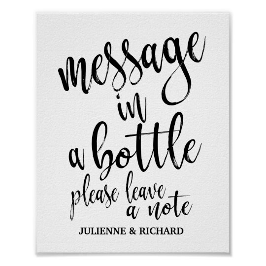 Message in a Bottle 8x10 Wedding Guest Book