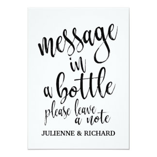 Message in a Bottle Affordable Wedding Sign Card