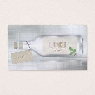 Message in a bottle business card