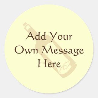 Message in a bottle. sticker