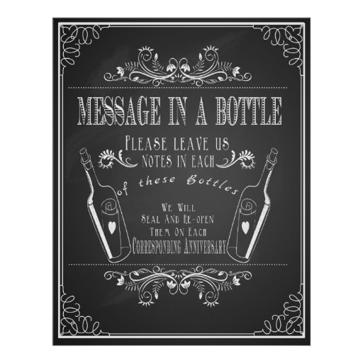"""""""Message in a bottle"""" wedding guest book"""