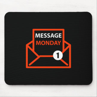 Message Monday Black Mousepad