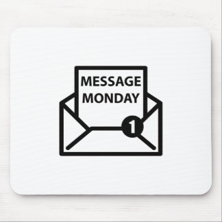 Message Monday White Mousepad