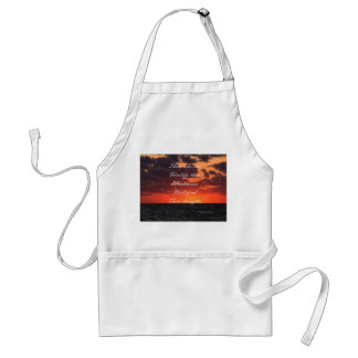 Message of strength apron