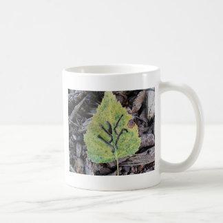 Message on a leaf....by alines #leaf #nature #woo basic white mug