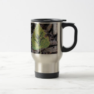 Message on a leaf....by alines #leaf #nature #woo stainless steel travel mug