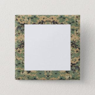 Message on Camo 15 Cm Square Badge