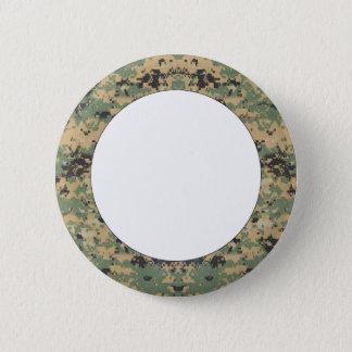 Message on Camo 6 Cm Round Badge