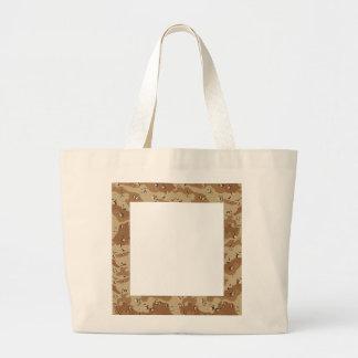 Message on Camo Jumbo Tote Bag
