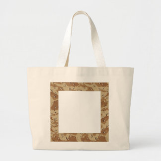 Message on Camo Large Tote Bag