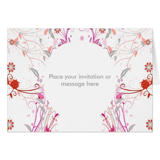 Message or Invitation Greetings Card