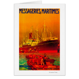 Messageries Maritimes Vintage PosterEurope Card