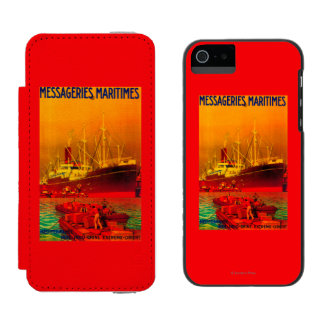 Messageries Maritimes Vintage PosterEurope Incipio Watson™ iPhone 5 Wallet Case