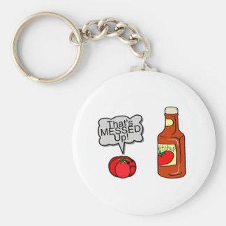 Messed Up Ketchup Key Ring