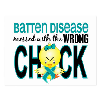 Messed With Wrong Chick Batten Disease Postcard