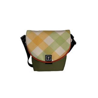 Messenger Bag - Checked for Tulip Poplar Tulip