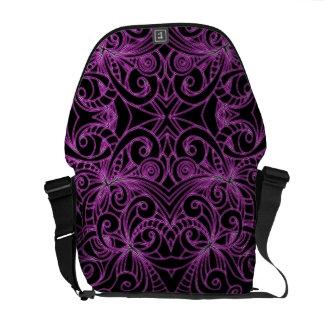 Messenger Bag Floral abstract background