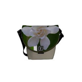 Messenger Bag - Gardenia on Stripes