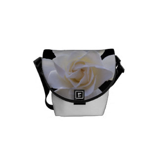 Messenger Bag - Gardenias on Black