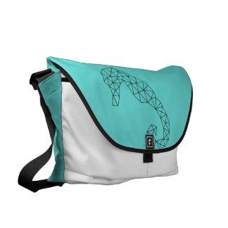 Messenger Bag Geometric Seahorse