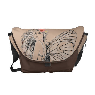 Messenger Bag-Med. Cocoa Fairy Courier Bags