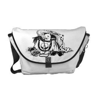 Messenger bag  with graphic dog in bag picture