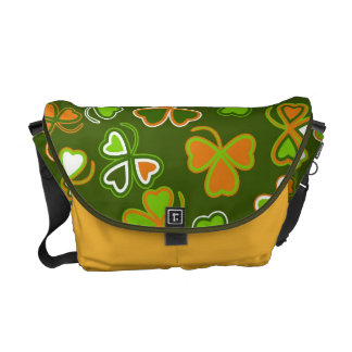 Messenger bag with  st. Patrick's Day seamless