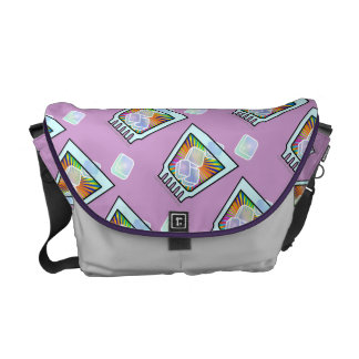 MESSENGER BAGS - Psychedelic COCKTAIL GLASS