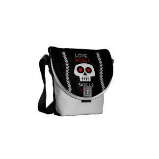 Messenger stock market pq Skulls Love Commuter Bag