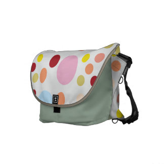 Messenger travel bag with Polka Dots Courier Bags