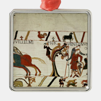 Messengers from Duke William to Guy de Silver-Colored Square Decoration