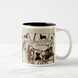 Messengers from Duke William to Guy de Two-Tone Coffee Mug