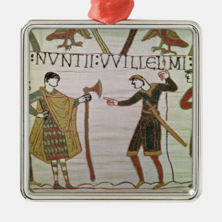 Messengers of Duke William came to find Count Silver-Colored Square Decoration