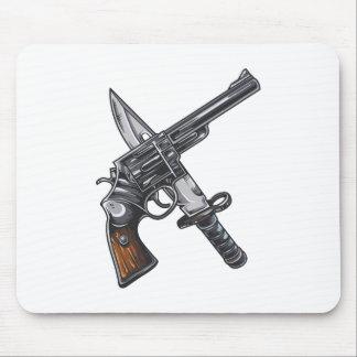 Messer Pistole knife gun Mousepad