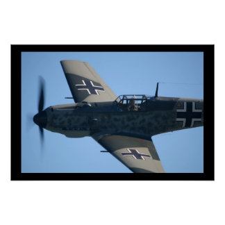 Messerschmitt Bf-109E-3 Emil Flyby Poster