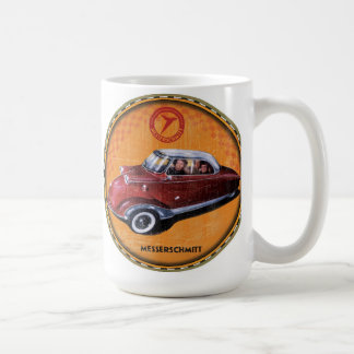 Messerschmitt bubble car sign coffee mug