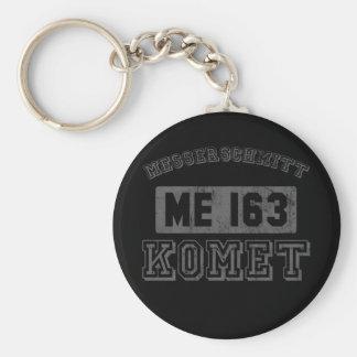 Messerschmitt Komet Basic Round Button Key Ring