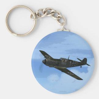 Messerschmitt ME-109 Keychain/Keyring Basic Round Button Key Ring