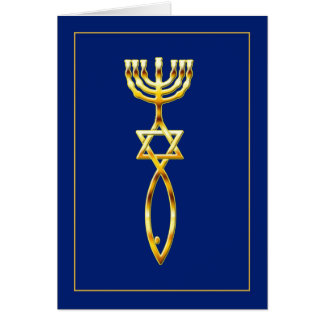 Messianic Seal - blue Greeting Card