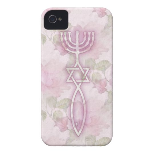 Messianic Seal Floral iPhone 4/4S BarelyThere Case
