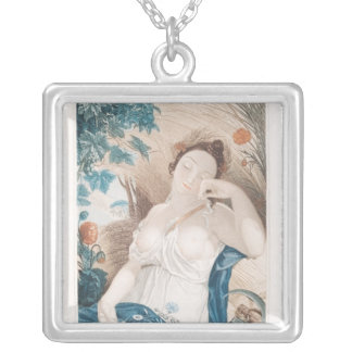 Messidor , tenth month of the Republican Silver Plated Necklace