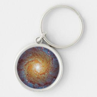 Messier 74 Spiral Galaxy Keychains